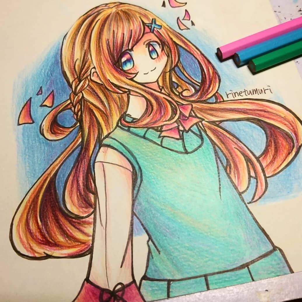 色鉛筆 背景が面倒くさい グラデーションで見ごたえを えんかた
